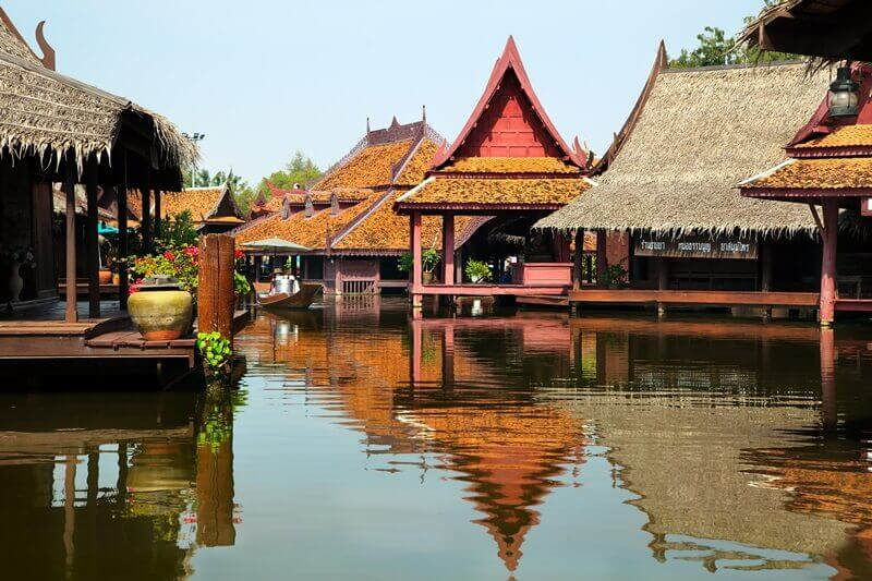 floating market , ancient city bangkok