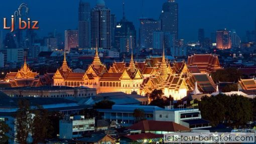 Bkk grand palace at night