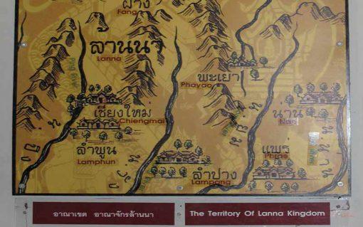 wiengkumkam and lanna map