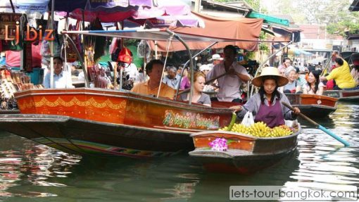 DNS damnoen saduak floating market shop boat for food
