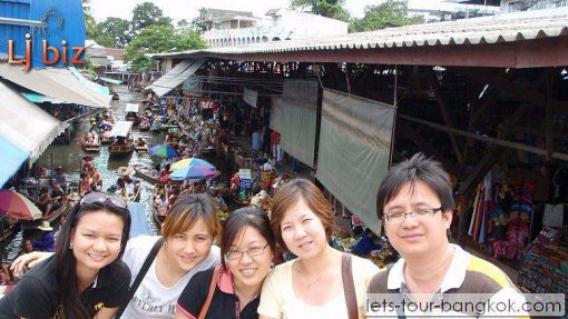 damnorn saduak floating market_bridge