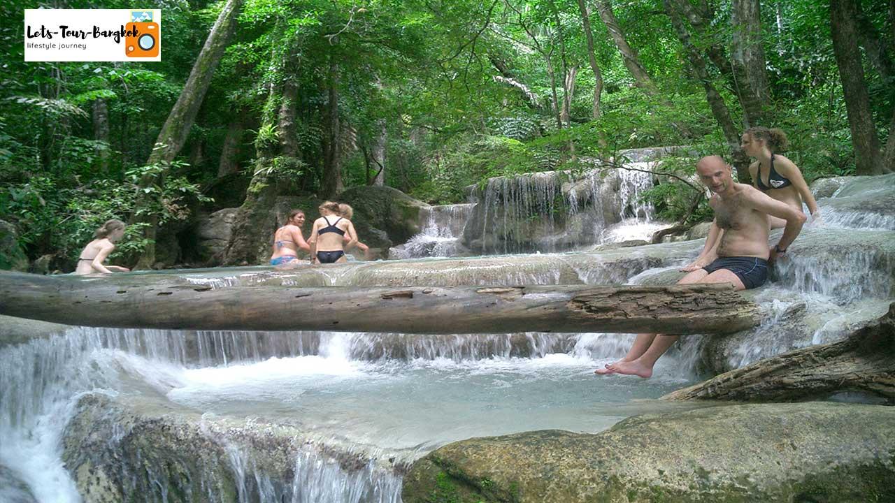 Erawan Waterfall  day tour from Bangkok