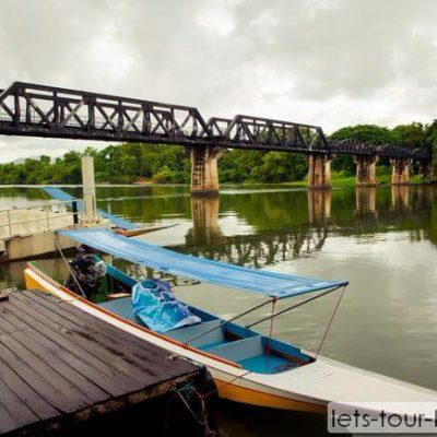 Kanchanaburi bridge on river kwai