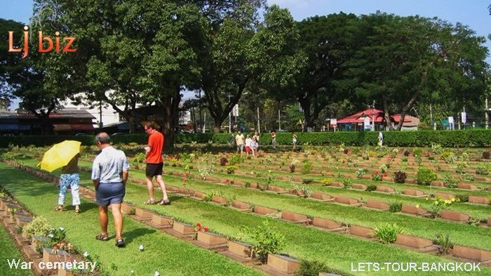 Kanchanaburi war cemetery walk