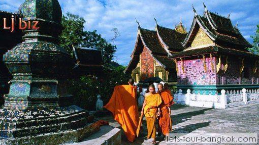 Laos luangpabang temple