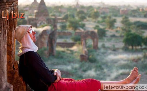 Myanmar Bagan relaxing in evening