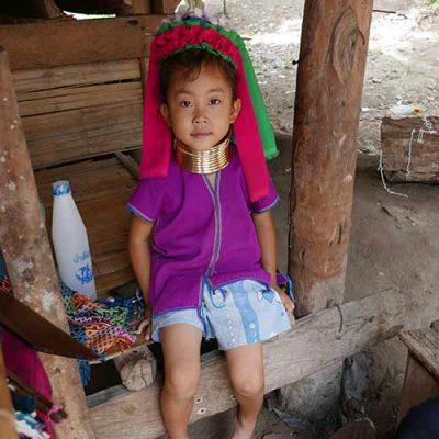 baan tong luang, Chiang mai , long neck hill tribe