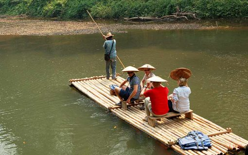 bamboo rafting in Chiang dao
