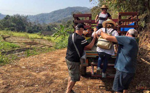 Hill tribe in Maetaman local truck