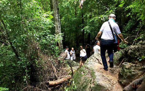 Erawan waterfall trekking