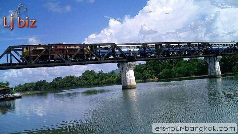 train ride on bridge over river kwai