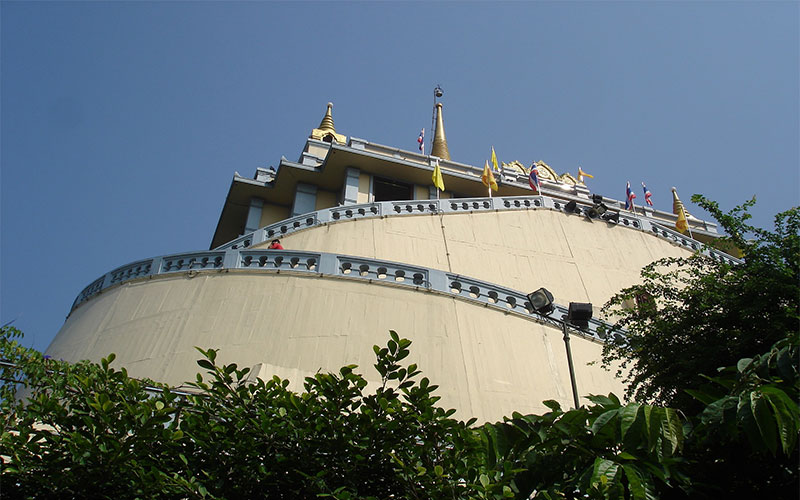 mountain of golden Buddha temple
