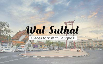 Wat Suthat Temple , epicenter of Bangkok