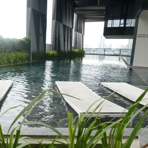 siemese condo building  swimming pool