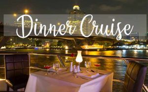 Dining table on river cruise