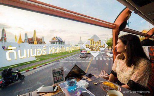 Thai bus Food tour pass the grand palace