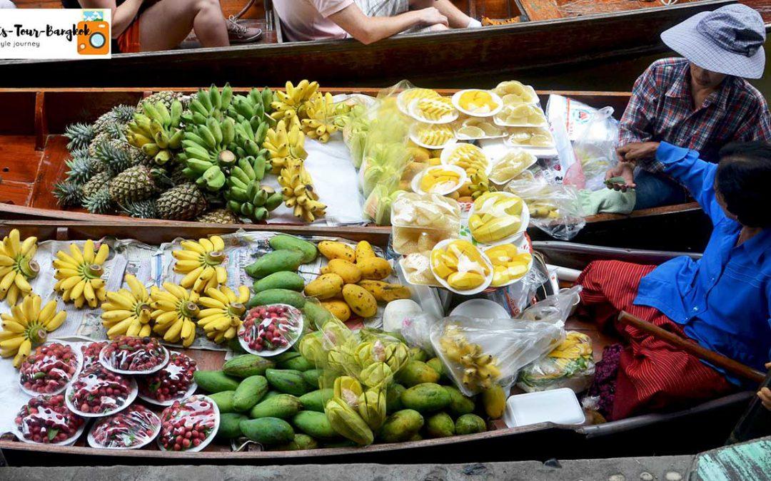 Damnoen saduak floating market , Train Market , National park