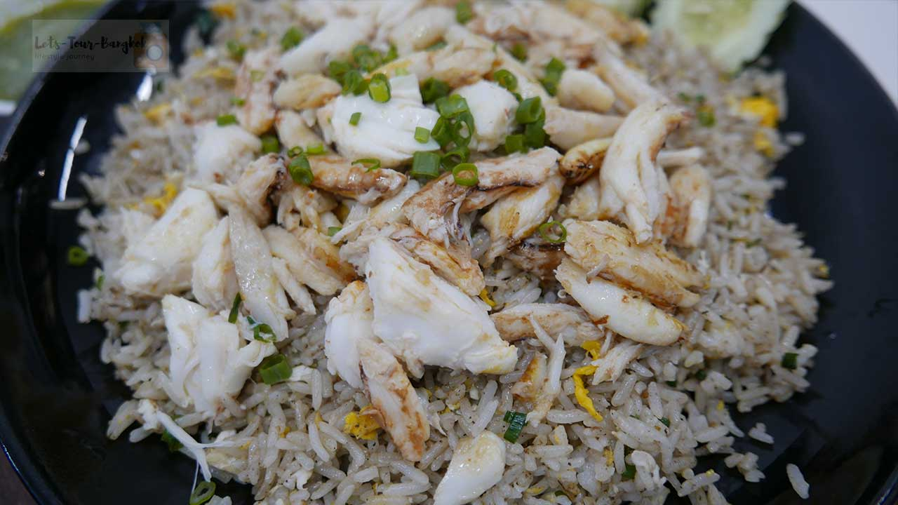 fired rice with crab