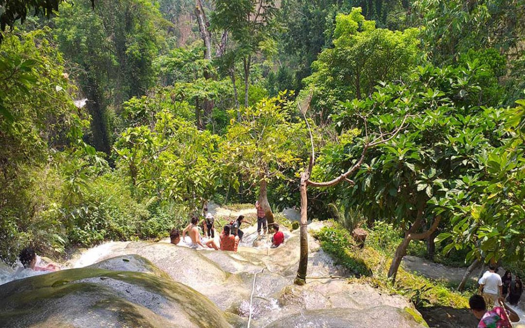 Swimming and play day at Bua Tong Sticky Waterfall
